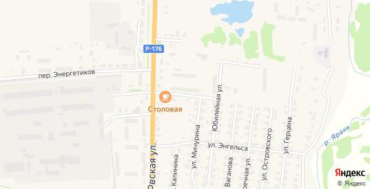 Поселковая улица в Яранске с номерами домов на карте. Спутник и схема онлайн