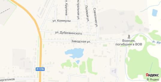 Заводская улица в Яранске с номерами домов на карте. Спутник и схема онлайн