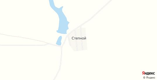 Карта поселка Степной в Саратовской области с улицами, домами и почтовыми отделениями со спутника онлайн