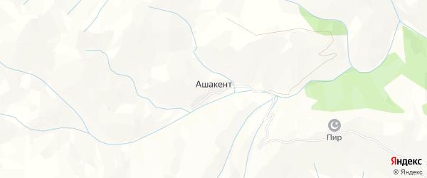 Карта села Ашакента в Дагестане с улицами и номерами домов