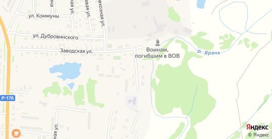 Заводской переулок в Яранске с номерами домов на карте. Спутник и схема онлайн