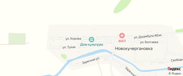 Улица Кирова на карте села Новокучергановка Астраханской области с номерами домов