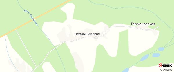 Карта Чернышевской деревни в Архангельской области с улицами и номерами домов