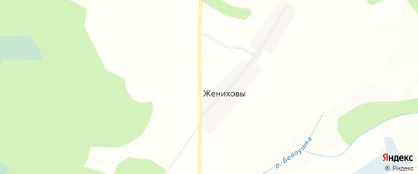 Садовое товарищество Искра на карте Даровской района Кировской области с номерами домов