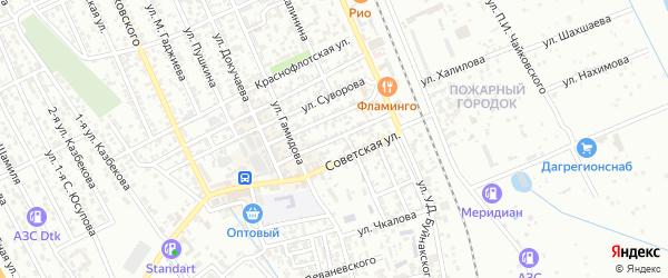 Комсомольская улица на карте Избербаша с номерами домов