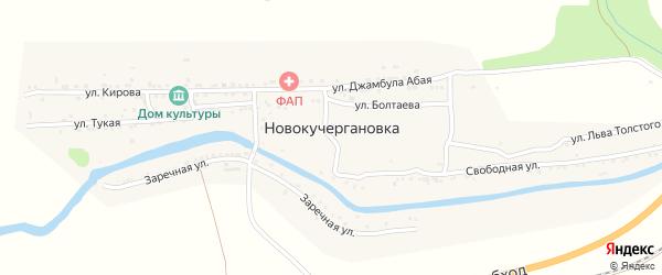 Рабочая улица на карте села Новокучергановка Астраханской области с номерами домов