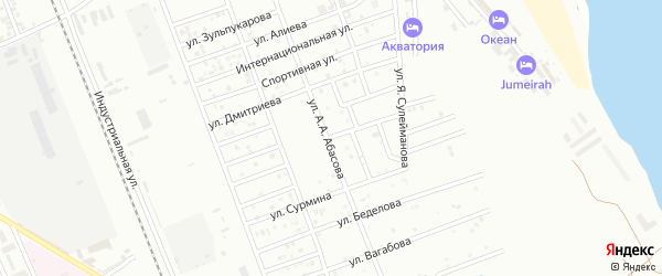Улица Джандарова на карте Избербаша с номерами домов