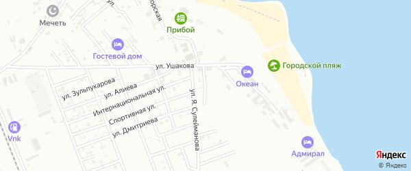 Улица Межлумова Оника Арсеньевича на карте Избербаша с номерами домов