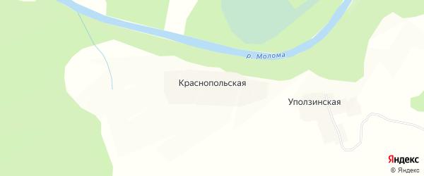 Карта Краснопольской деревни в Кировской области с улицами и номерами домов