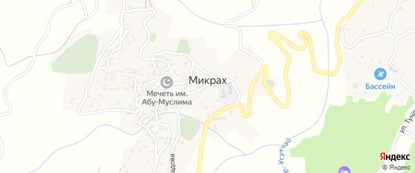 Улица Кафланова на карте села Микраха Дагестана с номерами домов