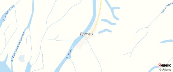 Карта поселка Дамчика в Астраханской области с улицами и номерами домов
