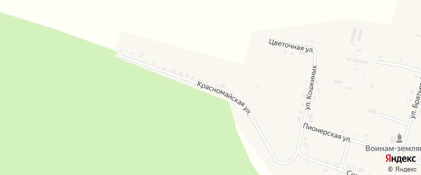 Красномайская улица на карте села Шемалаково с номерами домов