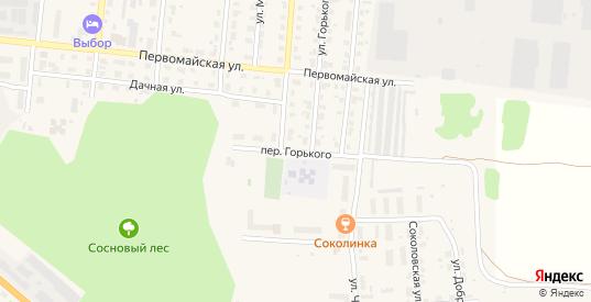 Переулок Горького в Яранске с номерами домов на карте. Спутник и схема онлайн
