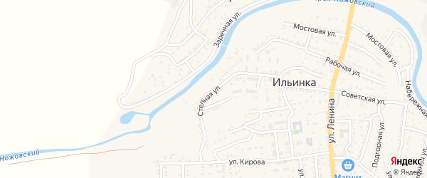 Степная улица на карте поселка Ильинки Астраханской области с номерами домов