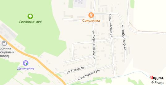 Переулок Чернышевского в Яранске с номерами домов на карте. Спутник и схема онлайн