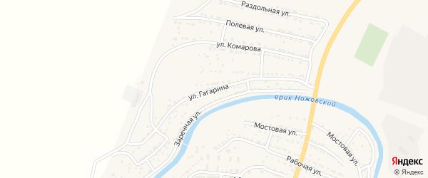 Улица Гагарина на карте поселка Ильинки Астраханской области с номерами домов