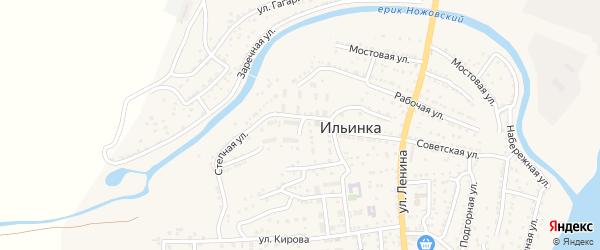 Улица Гоголя на карте поселка Ильинки Астраханской области с номерами домов