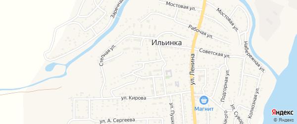 Улица Матросова на карте поселка Ильинки Астраханской области с номерами домов