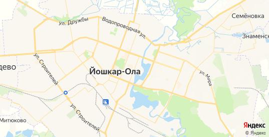 Карта Йошкар-Олы с улицами и домами подробная. Показать со спутника номера домов онлайн