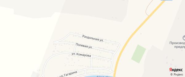 Раздольная улица на карте поселка Ильинки Астраханской области с номерами домов