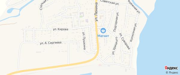 Пролетарская улица на карте поселка Ильинки Астраханской области с номерами домов