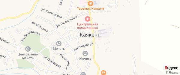 Улица Подгорного на карте села Каякента с номерами домов