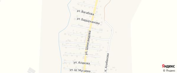 Улица С.Гашимова на карте села Каякента с номерами домов