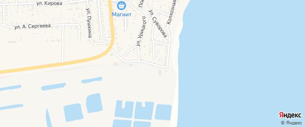 Улица Пугачева на карте поселка Ильинки Астраханской области с номерами домов