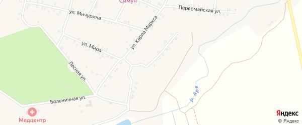 Улица Н.Зарубина на карте деревни Арабосей Чувашии с номерами домов