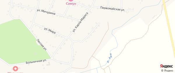 Улица Н.Зарубина на карте деревни Арабосей с номерами домов
