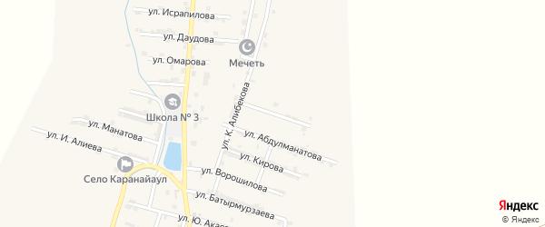 Улица А.Мусаева на карте села Каякента с номерами домов