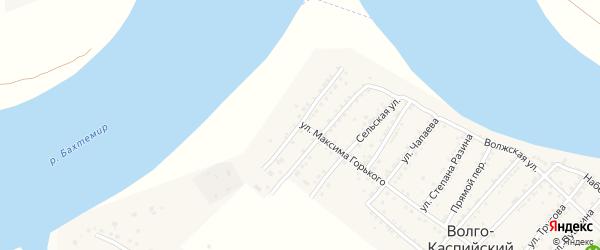 Улица Матросова на карте Волго-Каспийского поселка Астраханской области с номерами домов