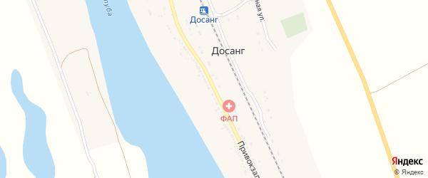 Привокзальная улица на карте поселка Досанг Астраханской области с номерами домов