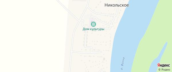 Молодежная улица на карте Никольского села Астраханской области с номерами домов