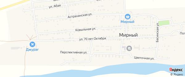 Улица 70 лет Октября на карте Мирного поселка с номерами домов