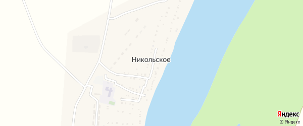 Советская улица на карте Никольского села Астраханской области с номерами домов