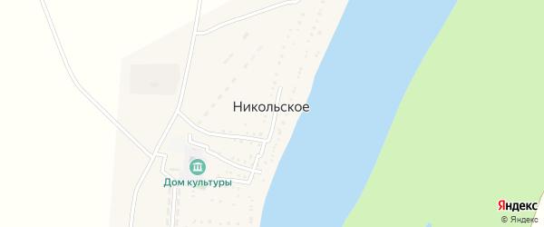 Улица Мира на карте Никольского села Астраханской области с номерами домов