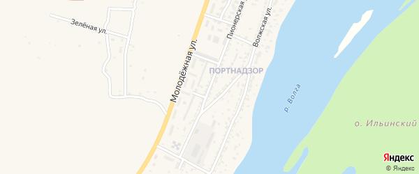 Пионерская улица на карте поселка Ильинки Астраханской области с номерами домов
