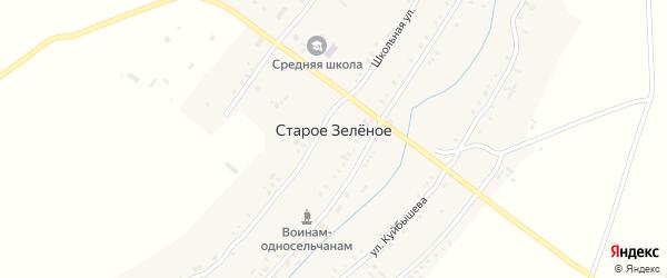 Школьная улица на карте Старого Зеленого села Ульяновской области с номерами домов