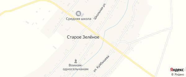 Советская улица на карте Старого Зеленого села Ульяновской области с номерами домов