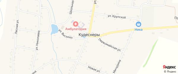 Улица Гагарина на карте деревни Кудеснер с номерами домов