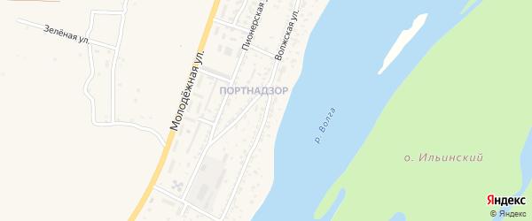 Волжская улица на карте поселка Ильинки Астраханской области с номерами домов