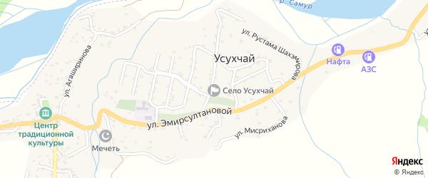 Улица Эмирсултановой на карте села Усухчая с номерами домов