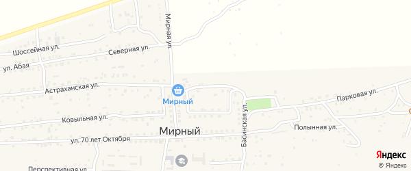 Рождественская улица на карте Мирного поселка с номерами домов