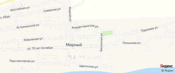 Габдулы Тукая улица на карте Мирного поселка Астраханской области с номерами домов