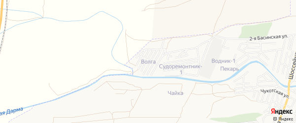 ГСК Волга на карте Астрахани с номерами домов