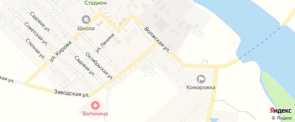 Солнечная улица на карте Волго-Каспийского поселка Астраханской области с номерами домов