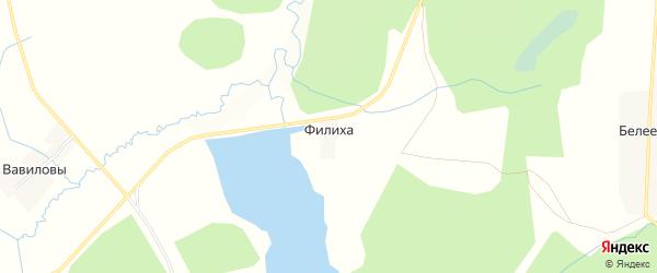 Садовое товарищество Филиха на карте Даровской района Кировской области с номерами домов