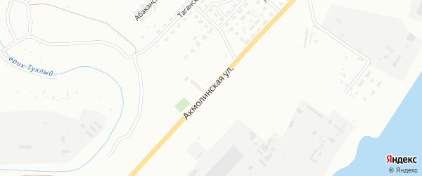 Акмолинская улица на карте Астрахани с номерами домов