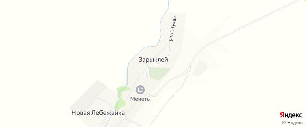 Карта села Зарыклея в Ульяновской области с улицами и номерами домов